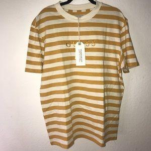 928aee40964a Guess Shirts | Originals Yellow Striped Tshirt | Poshmark